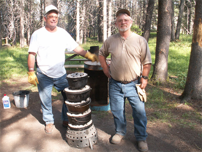 camp cook school and dutch oven cooking